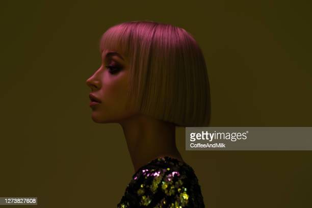 portrait of young girl with blond hairs - fashion stock pictures, royalty-free photos & images