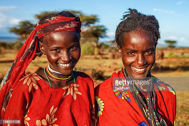 Portrait of young girls from Borana, Ethiopia, Africa