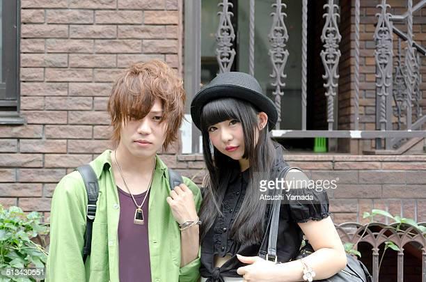 Portrait of young Harajuku couple