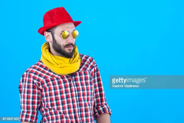 Portrait of young hipster man