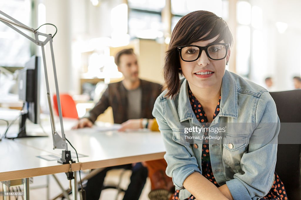 Portrait of Young Hispanic Businesswoman : Stock Photo