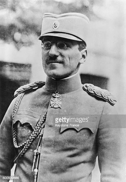 Portrait of young King Alexander of Yugoslavia in 1927 in Yugoslavia