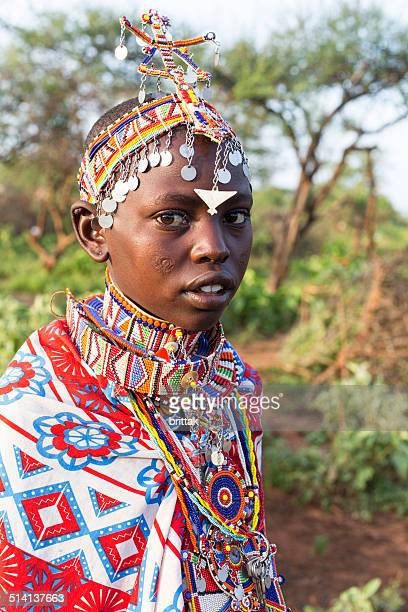Portrait of young maasai woman