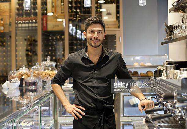 portrait of young male barista