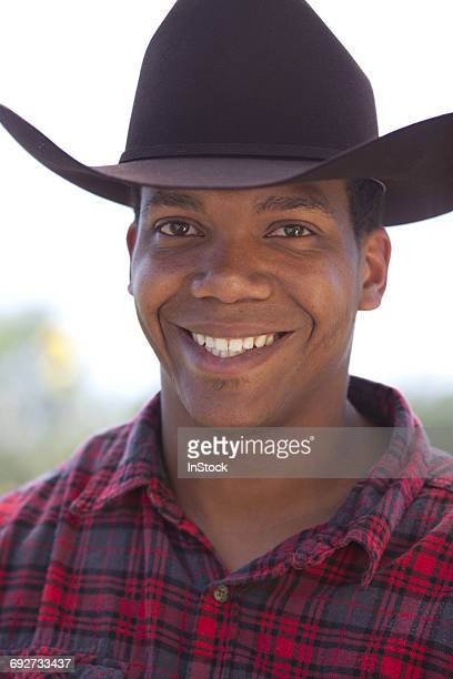Portrait of young male cowboy