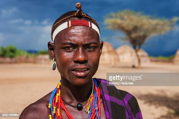 Portrait of young man from Erbore tribe, Ethiopia, Africa