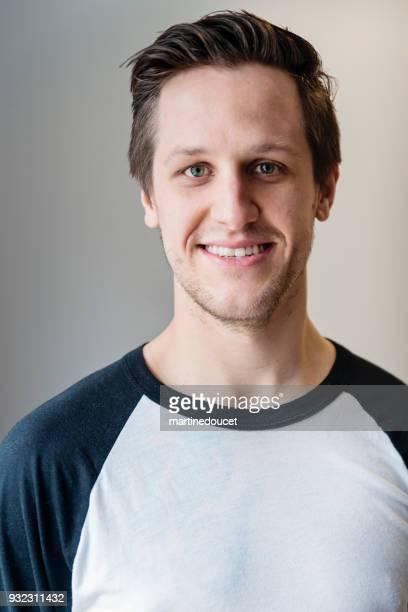 Portrait of young  man in his twenties.