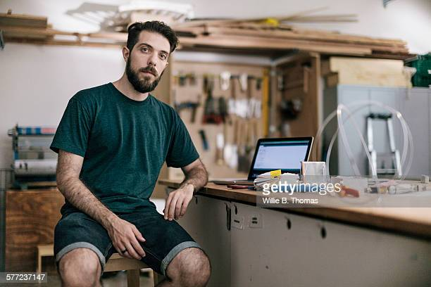 Portrait of young man in Maker space