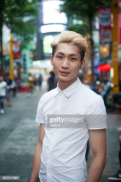Portrait of young man in Taipei