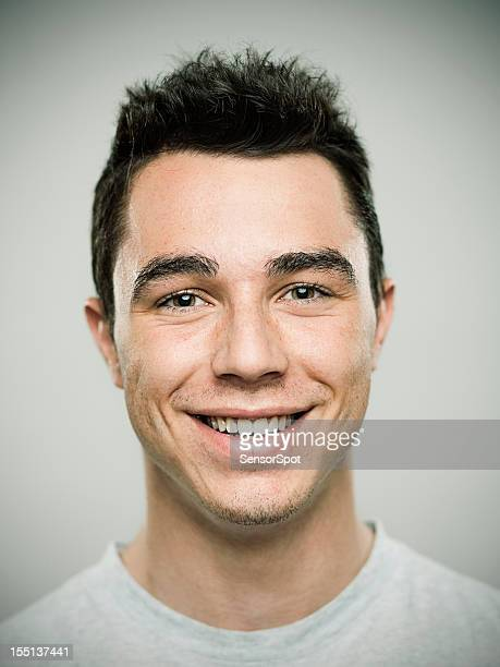 Portrait of Young Man laughing