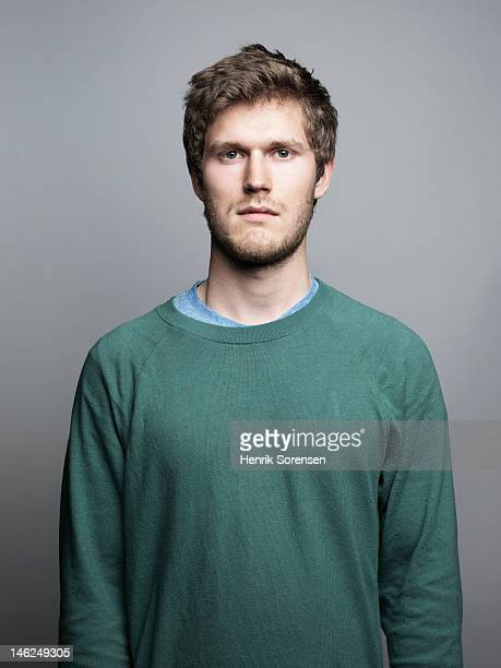 portrait of young man - blank expression stock pictures, royalty-free photos & images