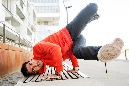 Portrait of young man practicising breakdance - gettyimageskorea