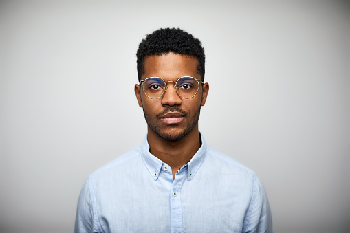 Portrait of young man wearing eyeglasses - gettyimageskorea