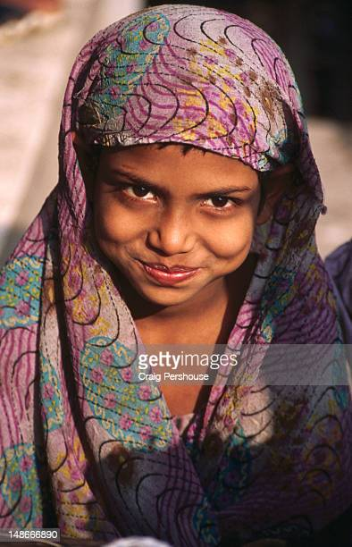 Portrait of young Muslim girl.