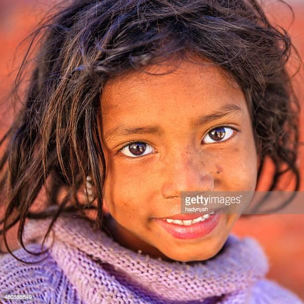 Portrait of young Nepali girl in Bhaktapur, Nepal