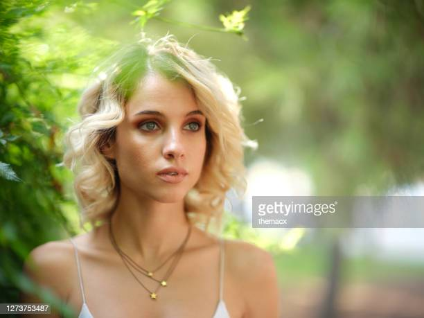 portrait of young pretty woman - jewellery stock pictures, royalty-free photos & images
