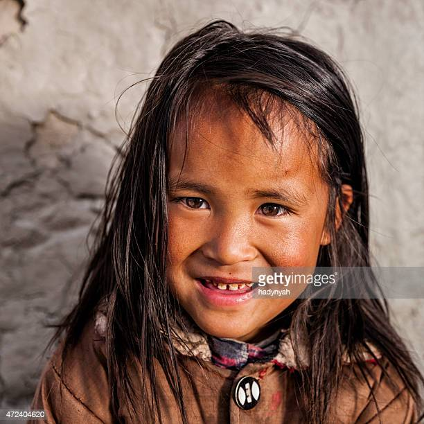 Portrait of young Sherpa girl in Everest Region