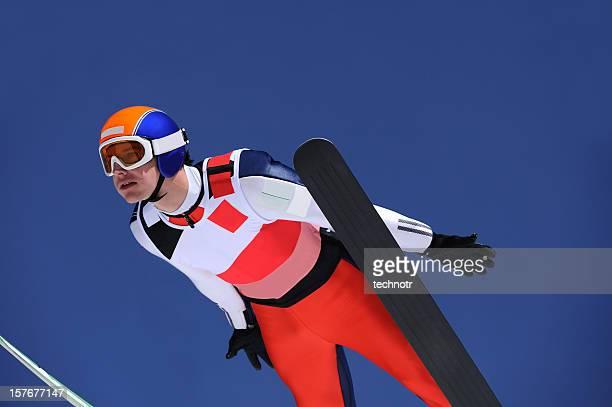 Portrait of young ski jumper
