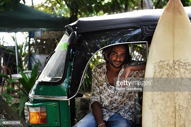 Portrait of young Sri Lankan Man in Tuk Tuk