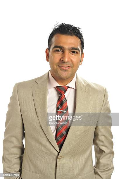 portrait of young successful business executive - handsome pakistani men stock photos and pictures