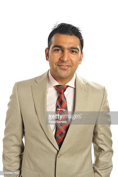 retrato de joven negocios exitoso ejecutivo - handsome pakistani men fotografías e imágenes de stock