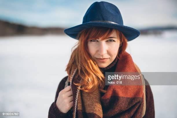 Porträt des jungen Reisenden Frau