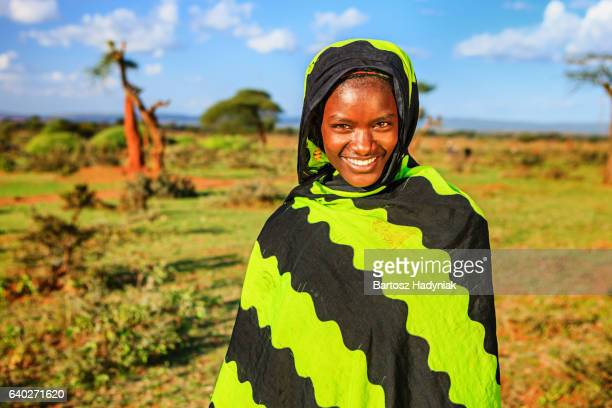 portrait of young woman from borana, ethiopia, africa - african tribal culture stock pictures, royalty-free photos & images