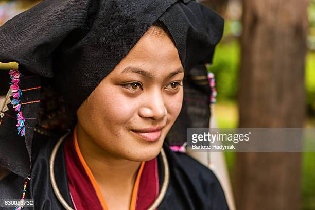 Portrait of young woman from Tai Dam hilltribe in Laos