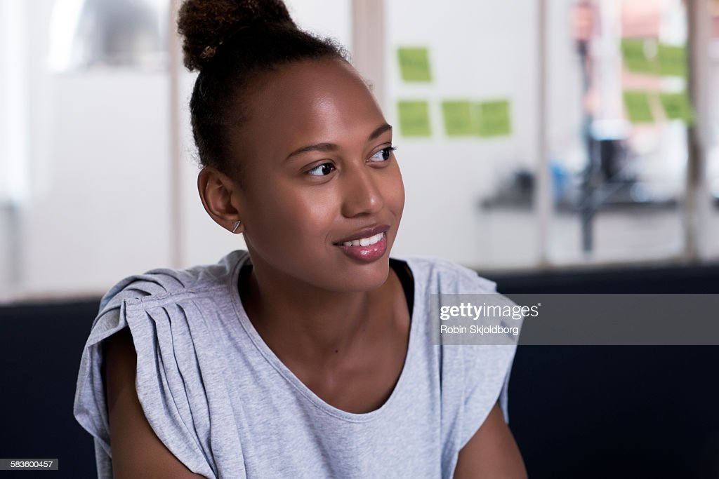 Portrait of young Woman in meeting room : Stock Photo