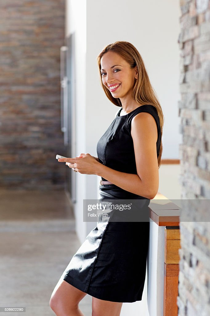 Portrait of young woman in modern home : Foto stock