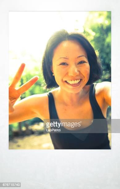 東京の若い女性の肖像画