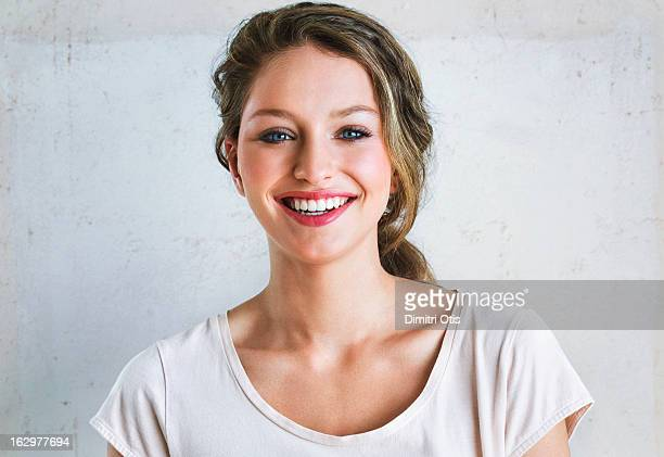 portrait of young woman, laughing - pretty girls stock photos and pictures