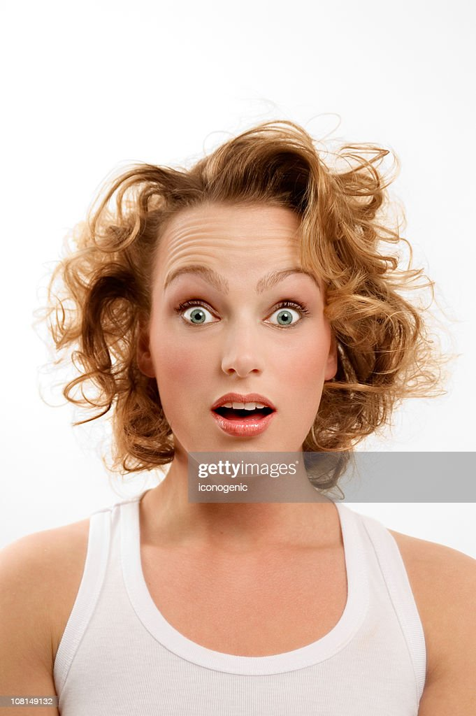 Young woman looking surprised — Stock Photo © silvae #2043003