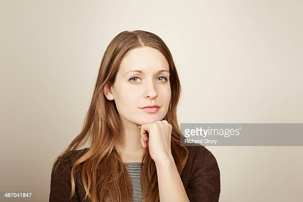 Portrait of young woman looking to camera