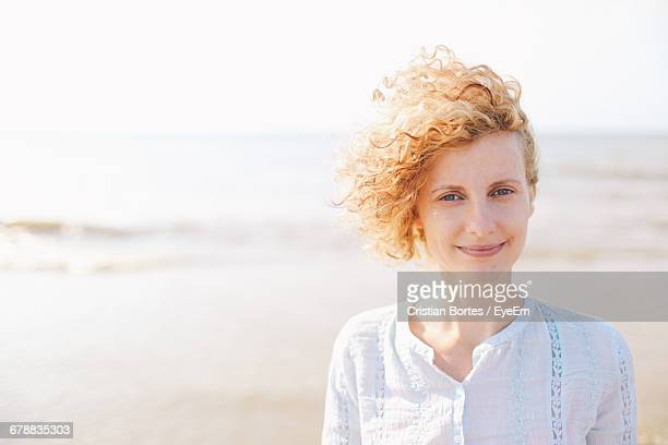 portrait of young woman on the beach - overexposed stock pictures, royalty-free photos & images