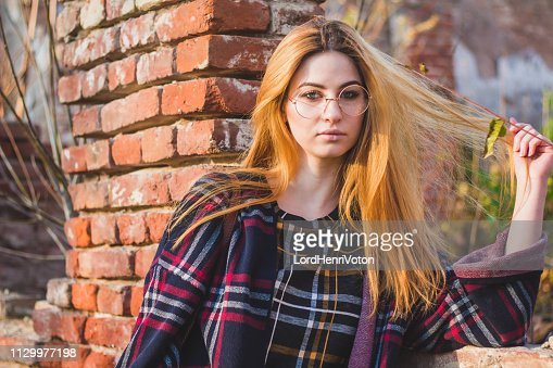 Overweight Young Woman Outdoor Portrait High-Res Stock
