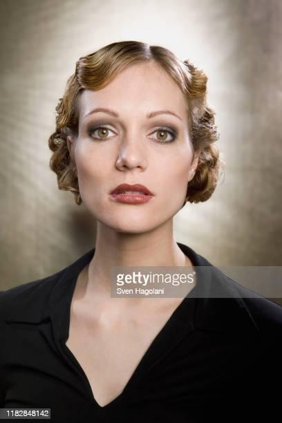 portrait of young woman - イブニングウェア ストックフォトと画像