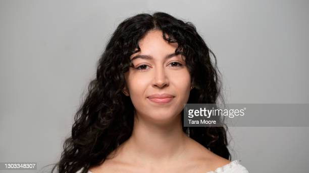 portrait of young woman - black hair stock pictures, royalty-free photos & images