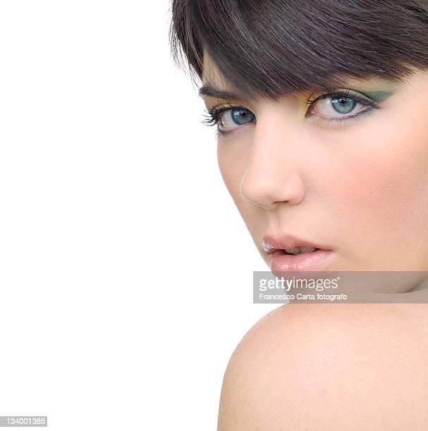 portrait of young woman - tempio pausania stock-fotos und bilder