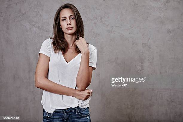 portrait of young woman - beautiful dominant women stock pictures, royalty-free photos & images