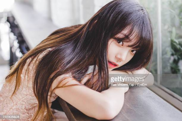 portrait of young woman - korean ethnicity stock pictures, royalty-free photos & images