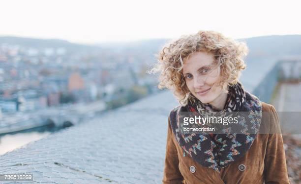 portrait of young woman - bortes stock-fotos und bilder