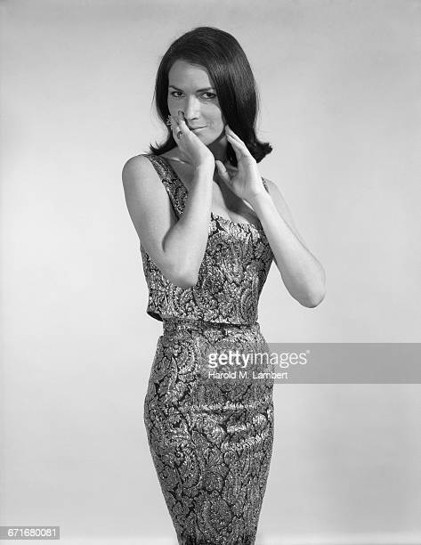 portrait of young woman posing - number of people stock pictures, royalty-free photos & images