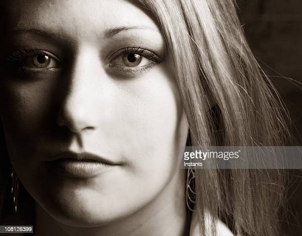 Portrait of Young Woman, Sepia Toned