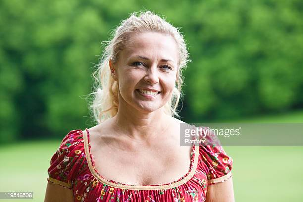 portrait of young woman smiling - northern european descent stock pictures, royalty-free photos & images