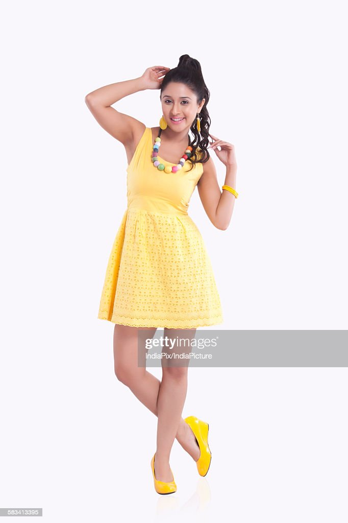 Portrait of young woman smiling : Stock Photo