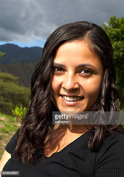 Portrait of young woman smiling, Vilcamamba, Educaor