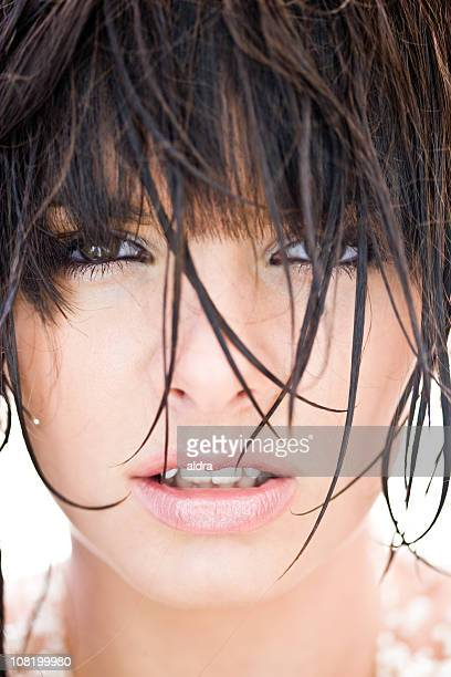 Portrait of Young Woman with Wet Hair