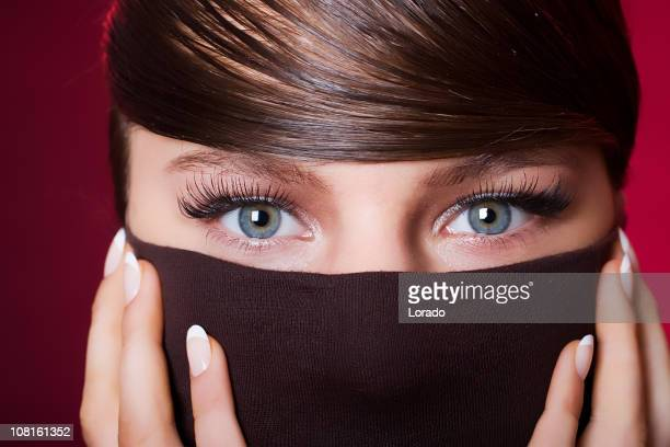 Portrait of Young Woman's Eyes