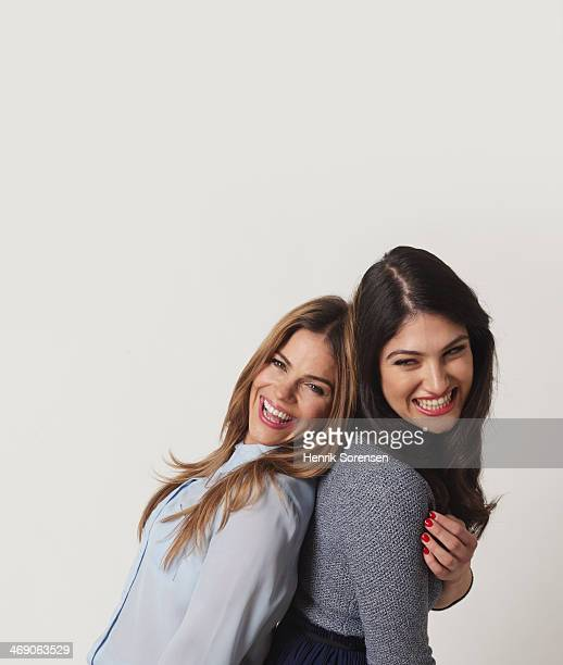 Portrait of young women on a white backdrop